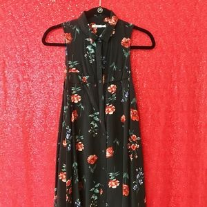 Collared Floral Skater Dress